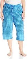 Karen Neuburger Women's Plus Size Neuberger Kn Cool Crop Pant