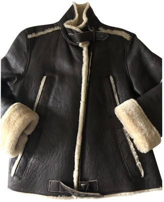 Timberland Brown Leather Leather Jacket for Women