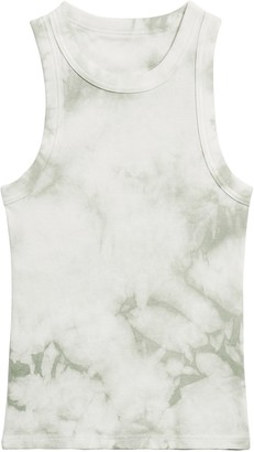 Banana Republic Fitted Tie-Dye Ribbed Tank