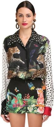 Dolce & Gabbana POLKA DOT & LEOPARD SILK TWILL SHIRT