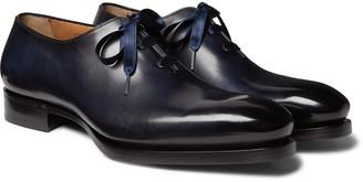 Santoni Zero-Cut Leather Oxford Shoes