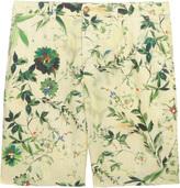 120% Lino Printed Flat Frnt Shorts