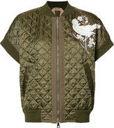 No.21 quilted bomber jacket