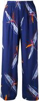 Cacharel botanical print trousers - women - Silk - 36