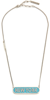 Marc Jacobs New York Nameplate Pendant Necklace