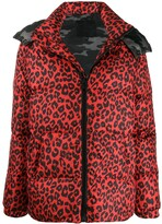 Philipp Plein Maculate leopard print padded jacket