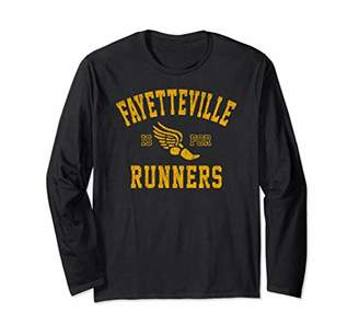 Vintage Style Fayetteville North Carolina is For Runners Long Sleeve T-Shirt