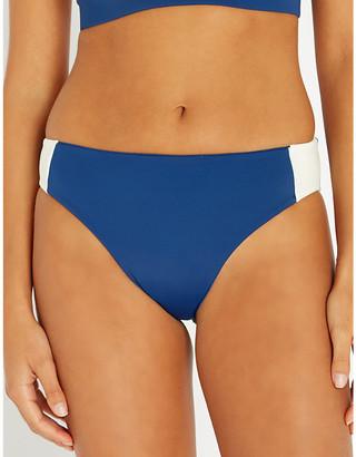 Stay Wild Swim Mid-rise contrast-panel bikini bottoms