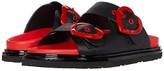 Love Moschino Heart Buckle Sandal (Black) Women's Shoes