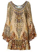 Camilla Leopard Print A-Line Frill Dress