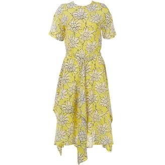 Valentino Yellow Silk Dresses