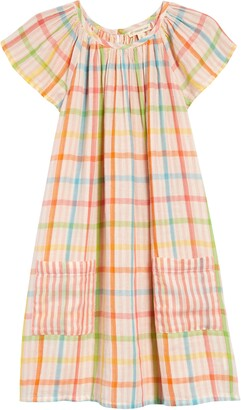 Tucker + Tate Spring Time Gingham Check Flutter Sleeve Dress