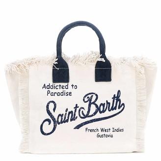 MC2 Saint Barth Saint Barth Natural Canvas Beach Bag