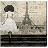 Oliver Gal Paris is Always a Good Idea by Canvas)