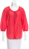 Diane von Furstenberg Caftan Three-Quarter Sleeve Blouse