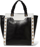 Just Cavalli Embellished two-tone leather tote