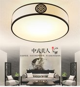 Lilamins Antique Round Classic Hotel Rooms Retro Lighting for Bathroom, Kitchen, Hallway, Office, Corridor,550Mm Ceiling Light
