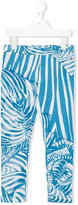 Roberto Cavalli zebra print leggings - kids - Cotton/Spandex/Elastane - 4 yrs