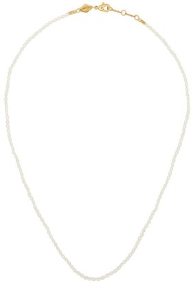 Anni Lu 18kt gold-plated Constance beaded necklace