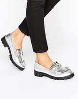 London Rebel Snaffle Trim Chunky Loafers