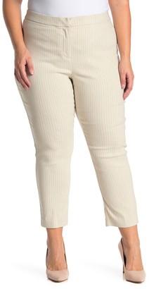 Amanda & Chelsea Striped Ponte Knit Pants (Plus Size)