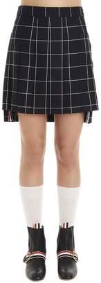 Thom Browne Checkered Pleated Mini Skirt