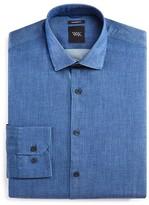 WRK Solid Denim Slim Fit Dress Shirt