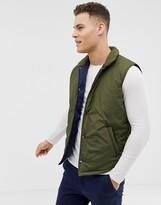 Asos Design DESIGN puffer vest in khaki