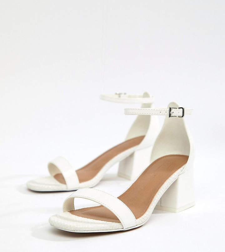 7886003eb3c Design DESIGN Wide Fit Honeydew Block Heeled Sandals