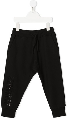 DSQUARED2 Studded-Logo Track Pants