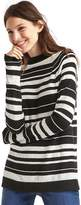 Gap Merino wool blend stripe mock neck sweater