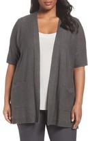 Eileen Fisher Plus Size Women's Simple Tencel & Merino Wool Cardigan