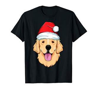 Golden Retriever Santa Hat Christmas Pajamas Xmas Kids Boys T-Shirt