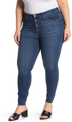 Madewell Button Fly Mid Rise Skinny Jeans (Regular & Plus Size)