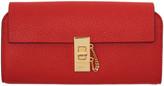 Chloé Red Long Drew Flap Wallet