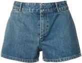 A.P.C. high waist denim shorts - women - Cotton - 34