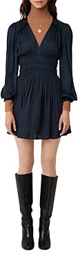 Maje Riane Satin Mini Dress
