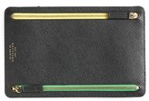 Smythson 'Panama' Zip Currency Case - Black