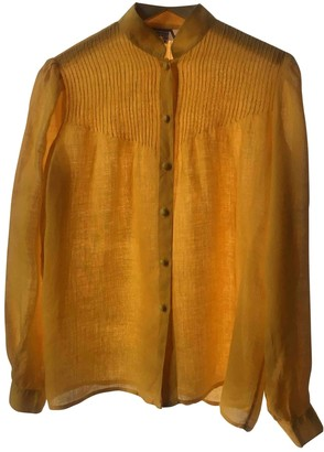 Valentino Yellow Linen Tops