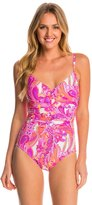 Miraclesuit Persian Garden Nip 'N Tuck One Piece Swimsuit 8145970