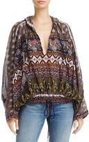 Free People Hold On Tight Gauze Hooded Top