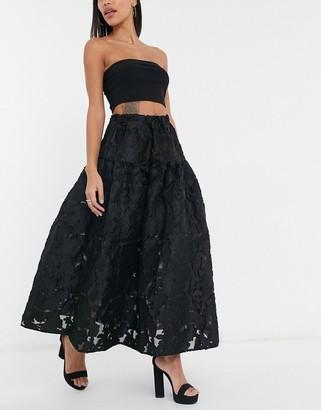 Sister Jane Dream organza smock maxi skirt in black co