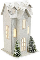 Glucksteinhome Noel Blanc LED Glitter House Decoration
