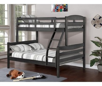 Viv + Rae Ralph Twin Over Full Bunk Bed Bed Frame Color: Rustic Gray Stain