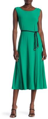 Nina Leonard Sylvia Jewel Neck Sleeveless Dress