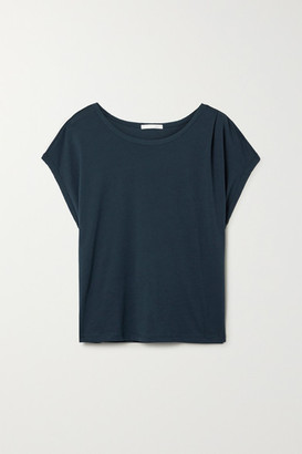 Skin Sonia Pima Cotton-jersey Pajama Top - Midnight blue