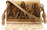 Loewe Flamenco Flap Tapestry suede cross-body bag