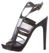 Aperlaï Mesh Square-Toe Sandals