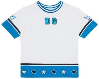 Dolce & Gabbana Kids Contrast-Stripe Logo T-Shirt (8-12 Years)