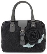 RED Valentino Floral Top-Handle Wool Handbag